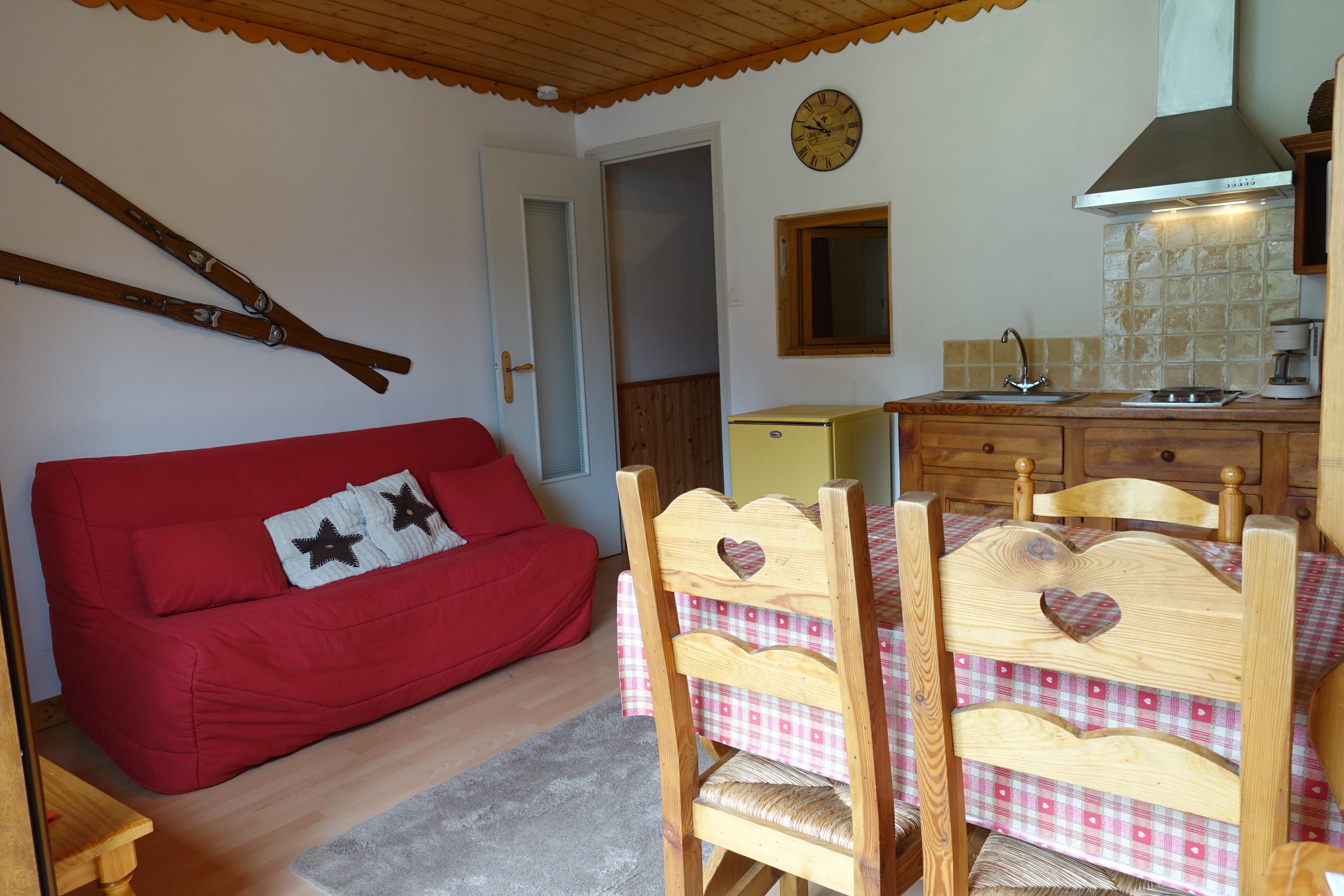 Studio cabine en location à Areches
