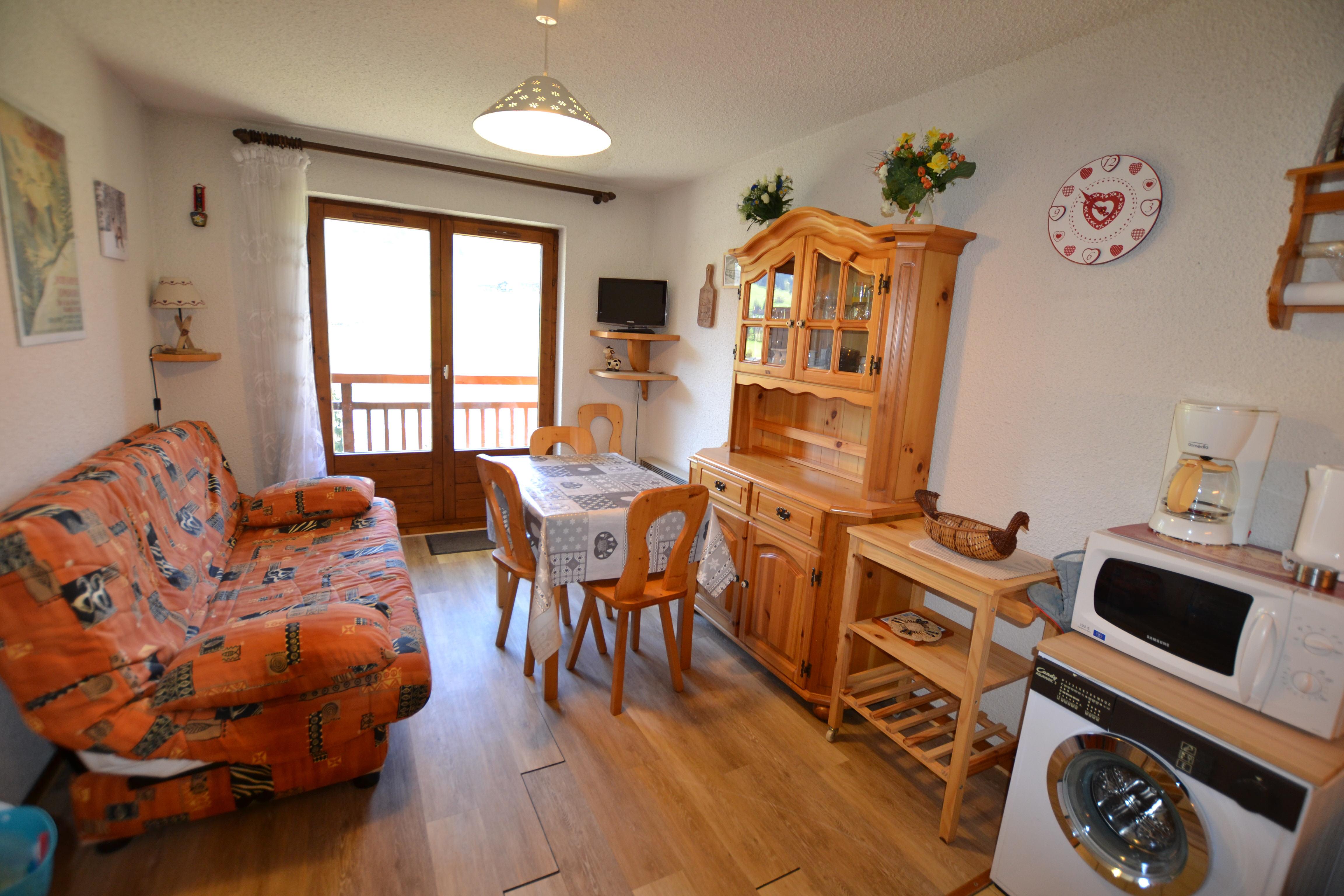 Location vacances Studio cabine avec balcon pour 4 personnes à Praz Sur Arly