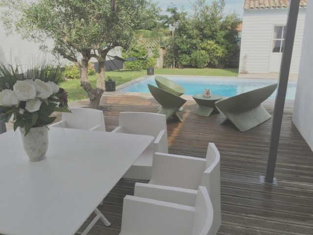 Villa avec piscine saint clement des baleines  8 pers.
