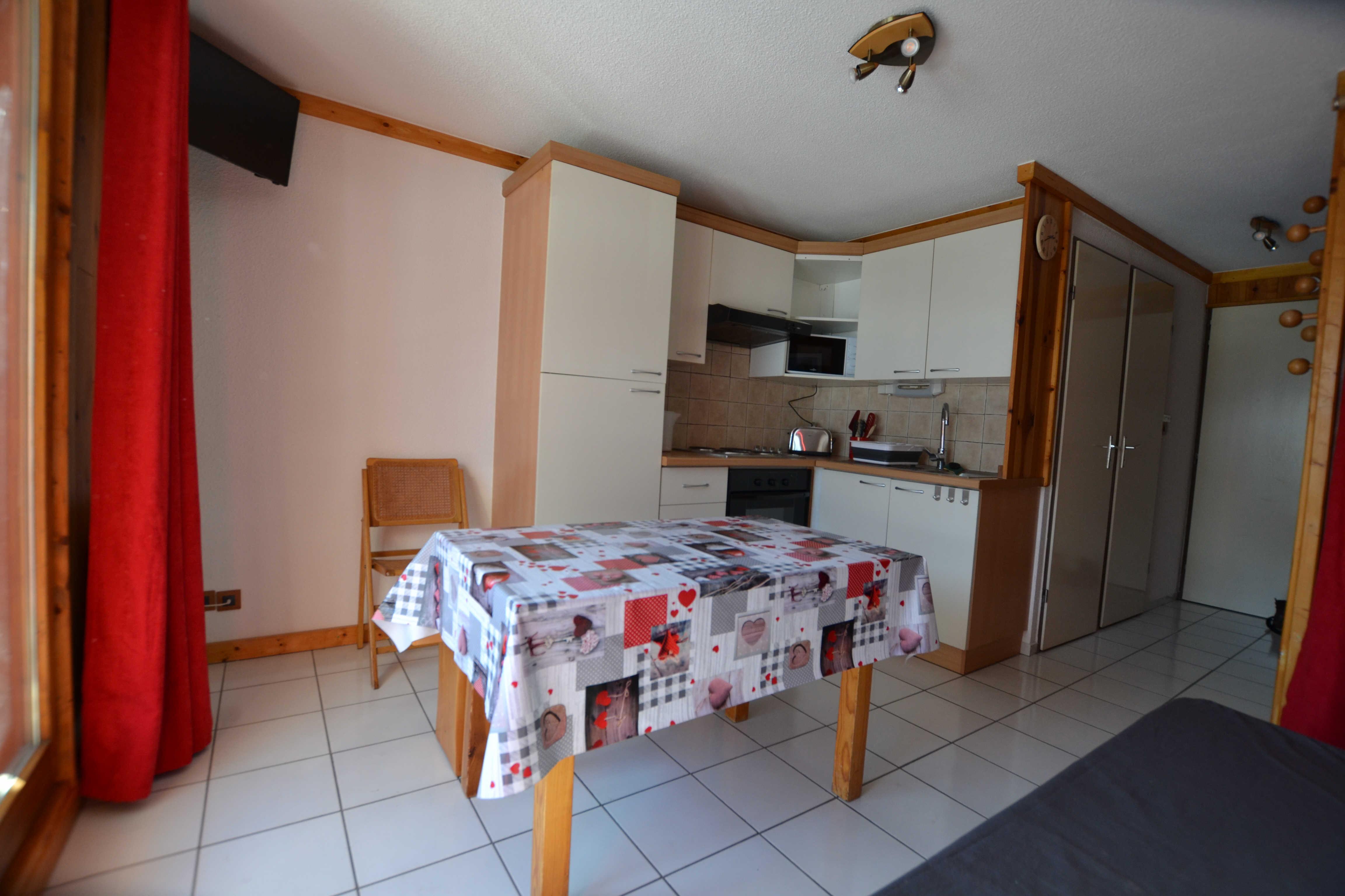 Studio cabine pour 4 personnes en location de vacances à Praz Sur Arly
