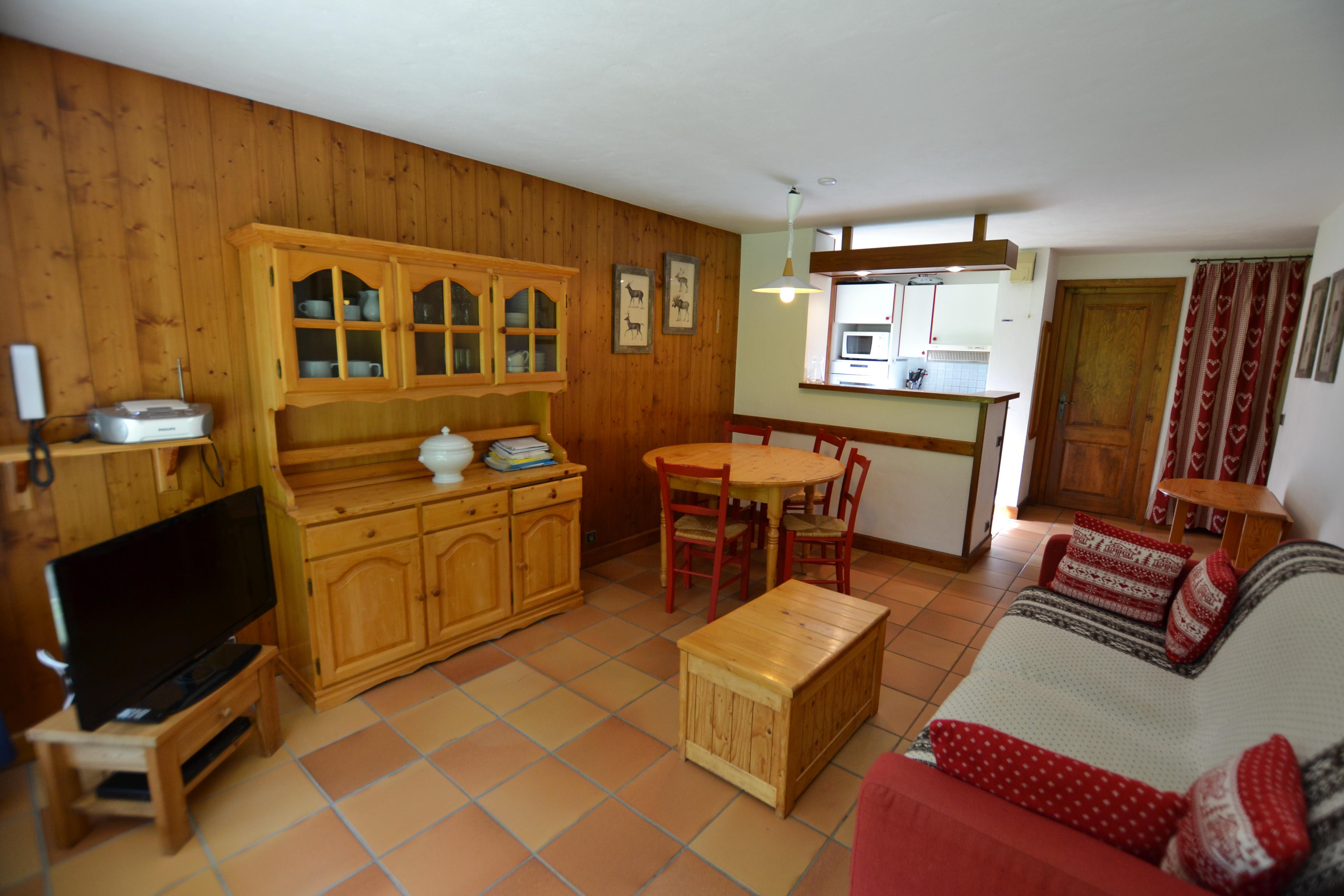 3 pièces pour 4 personnes en location de vacances à Megeve