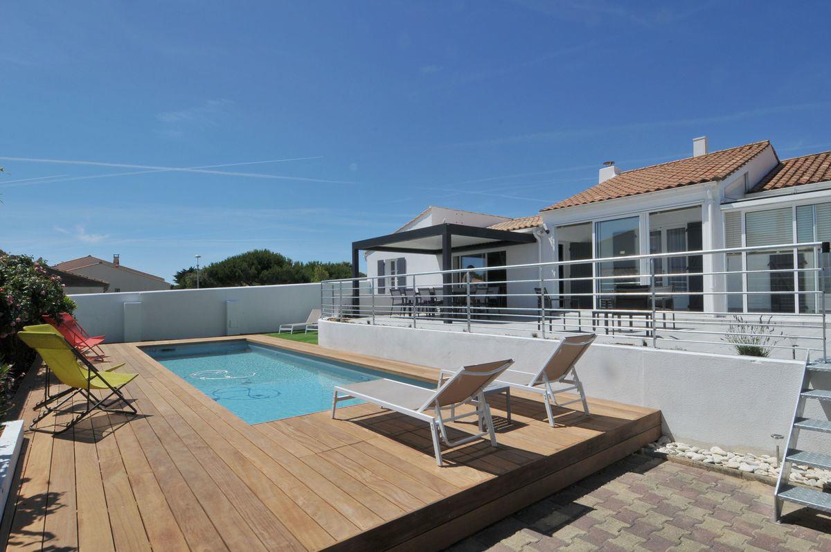 Villa avec piscine ars en re  6 pers.