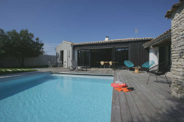 Villa avec piscine le bois plage en re  8 pers.